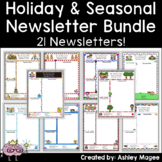 Holiday and Seasonal Newsletter Templates - Set of 20 (bundle)