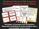 Hollywood Theme Grade Three CCSS Complete Vocabulary Program