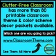 HOLLYWOOD Classroom Theme Packet ~ Printables Decor and More