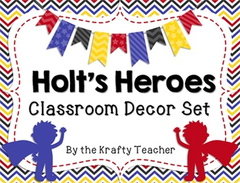Holt's Heroes Room Decor Set