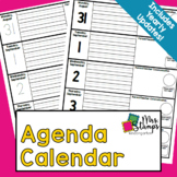 Home/School Communication Binder:  Agenda Calendar with Boxes