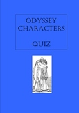 Homer Odyssey Characters: Quiz (bell ringer, warm-up, exit