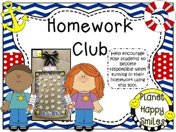 Homework Club and Bookmarks ~ Nautical