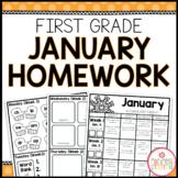 Homework Packet: First Grade   January