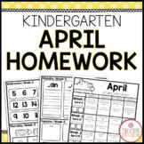 Homework Packet: Kindergarten | April