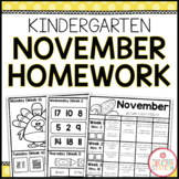 Homework Packet: Kindergarten | November