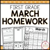 Homework Packet: First Grade   March