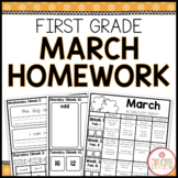 Homework Packet: First Grade | March