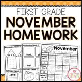 Homework Packet: First Grade   November