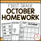 Homework Packet: First Grade | October