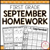 Homework Packet: First Grade   September