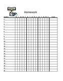 Homework Tracker (chart)