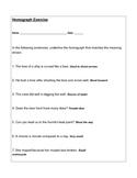 Homograph Practice Worksheet
