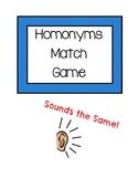 Homonyms Match Game