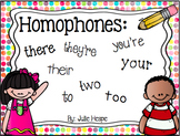 Homophone Scoot –There, Your, To