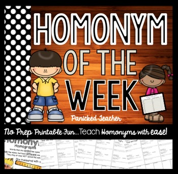 Homonyms of the Week: A School Year of Homonyms!