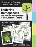 Homophones - Frog Theme - Homophone Posters, Activities, Games