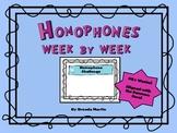 Homophones Week by Week