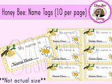 Honey Bee: Name Tags (10 per page)