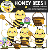 Honey Bees Clipart {Digital Clips 4 Teaching}