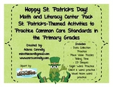 Hoppy St. Patrick's Day! Math and Literacy Center Pack