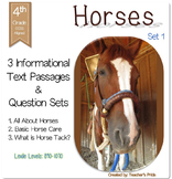 Horses Informational Text - Set 1