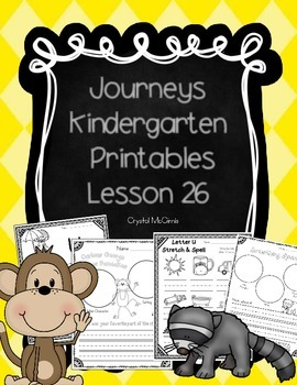 Journeys Lesson 26 Kindergarten Supplemental Materials