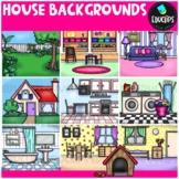 House Backgrounds Clip Art Bundle