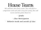 House Teams Behavior Management