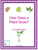 How Does a Plant Grow- Printable Book