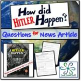 How Hitler Happened?: World War II Worksheet for great Jr.