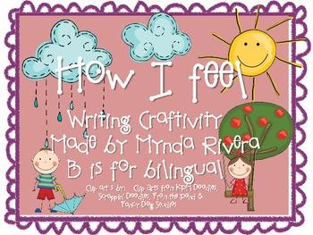 How I feel... English & Spanish Craftivity