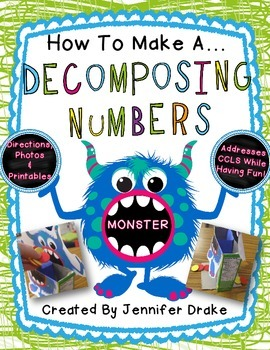 How To Make A Decomposing Numbers Monster!  PLUS Printable
