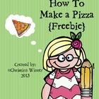 How To Make a Pizza {Procedural writing} Freebie!!