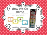 How We Go Home - A Transportation Clip Chart *NOW EDITABLE*