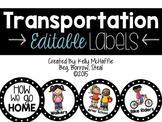 How We Go Home {transportation cards}
