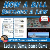 How a Bill Becomes a Law – Lecture, Game Board Project, Re