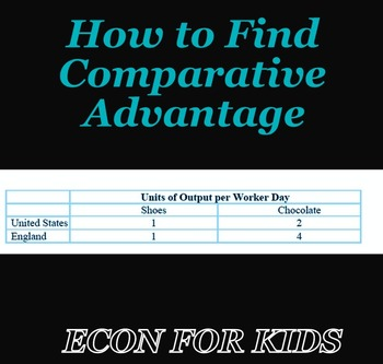 "Economics Handout: ""How to Find Comparative Advantage"""