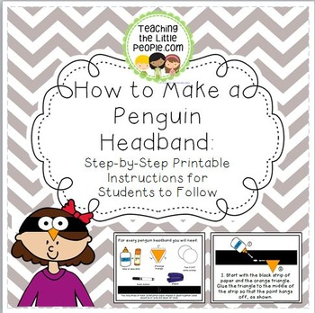 How to Make a Penguin Headband: Step-by-Step Instructions for Students To Follow Image