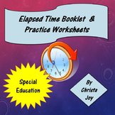 How to Tell Elapsed Time booklet and practice worksheets
