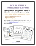 How to Write A Constructed Response RI.3.2