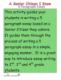 How to Write a 5 Paragraph Essay on a Senior Citizen I Know