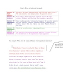 How to Write an Analytical Paragraph