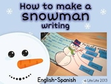 How to make a snowman writing