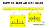 How to read an inch and centimeter ruler