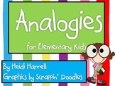 Huge Analogy Packet for Elementary Kids