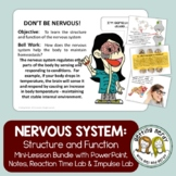 Nervous System Human Body PowerPoint, Notes, Labs and Lessons