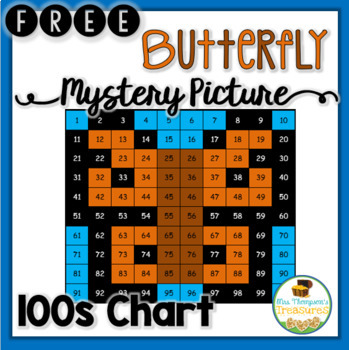 FREE Butterfly Hundreds Chart Mystery Picture