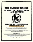 Hunger Games Review Lessons - Characters & Setting