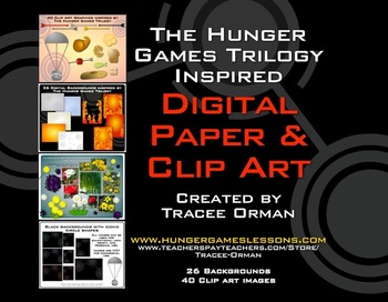 Hunger Games Trilogy Inspired Clip Art Digital Paper